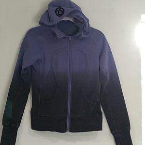 Lululemon dip dyed, message in hood scuba hoodie